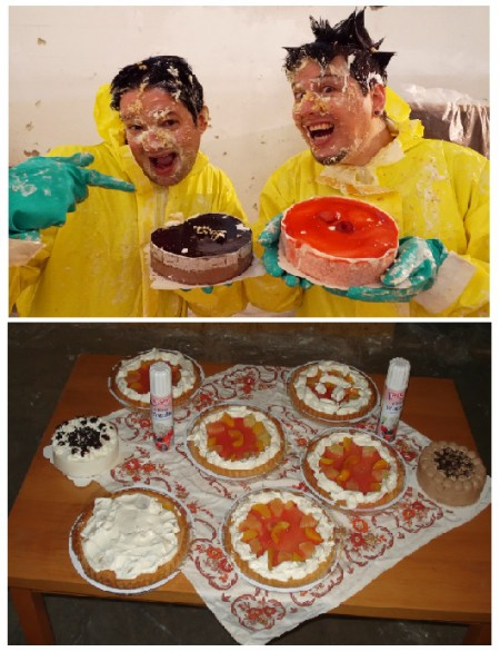 Tortenschlacht im Crash Room !